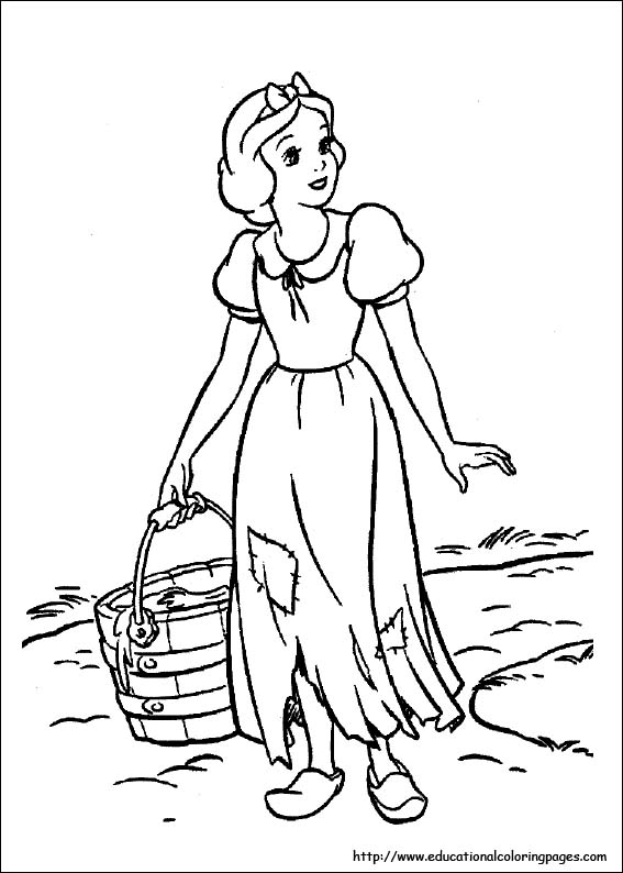 Snow White Coloring Pages free