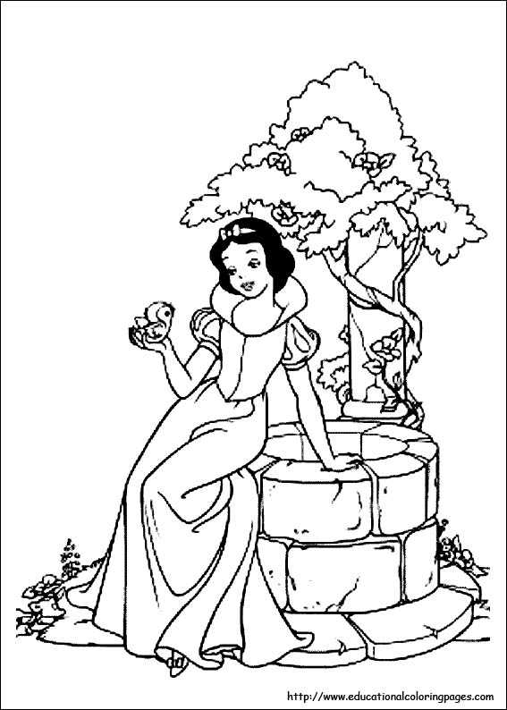 coloring pages snaow white - photo#32
