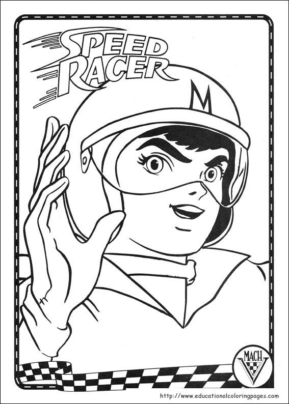 Speed Racer Coloring Pages Educational