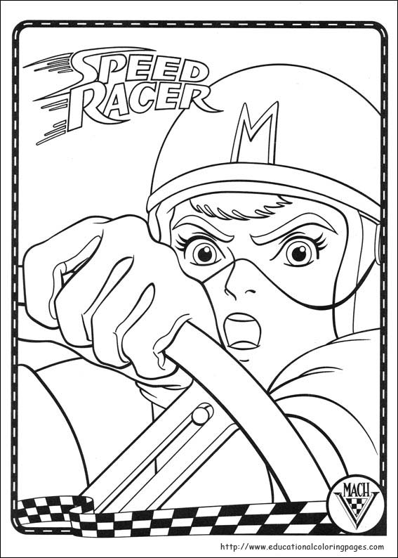 coloring pages speed racer - photo#4