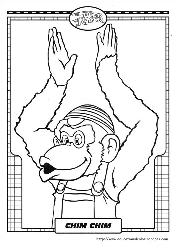 coloring pages speed racer - photo#17