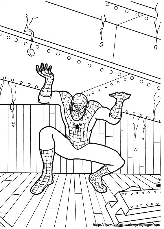 Free Coloring Spiderman Pages