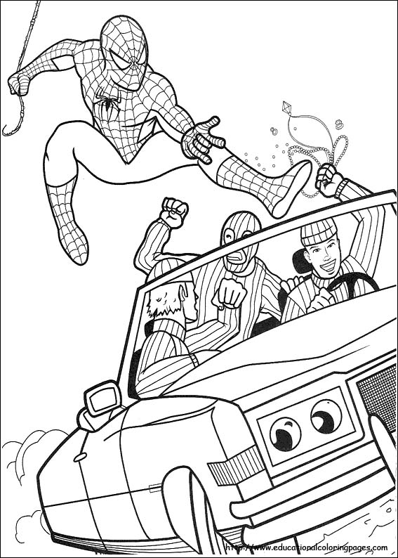 coloring Spiderman pages,