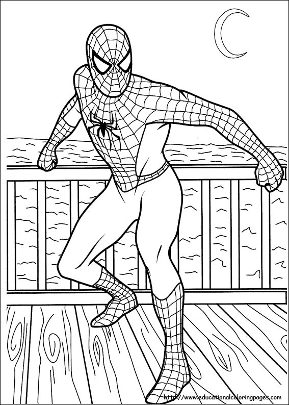free coloring spiderman pages - Spiderman Coloring Page