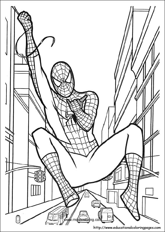 kids spiderman coloring pages
