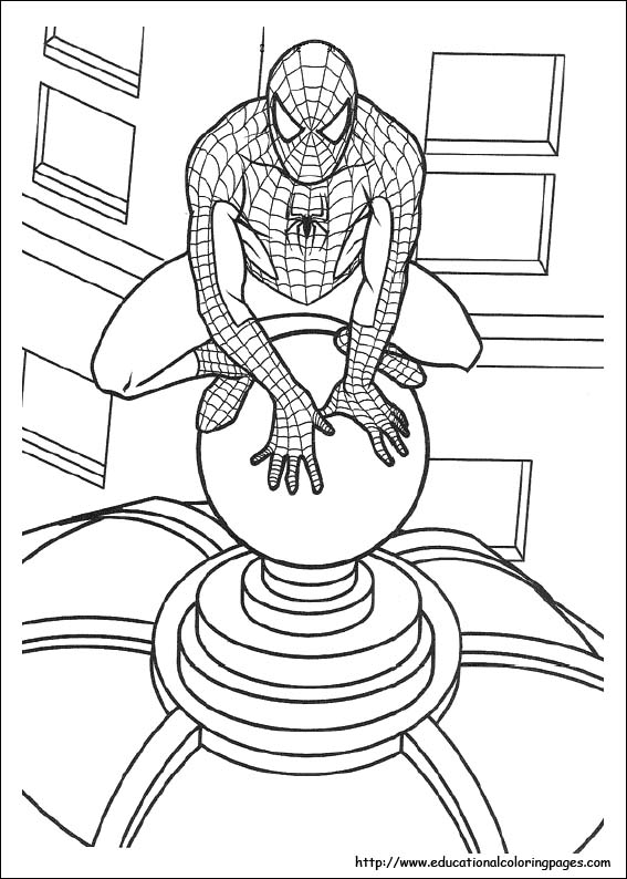 Spiderman Printable Pages Coloring Sheets