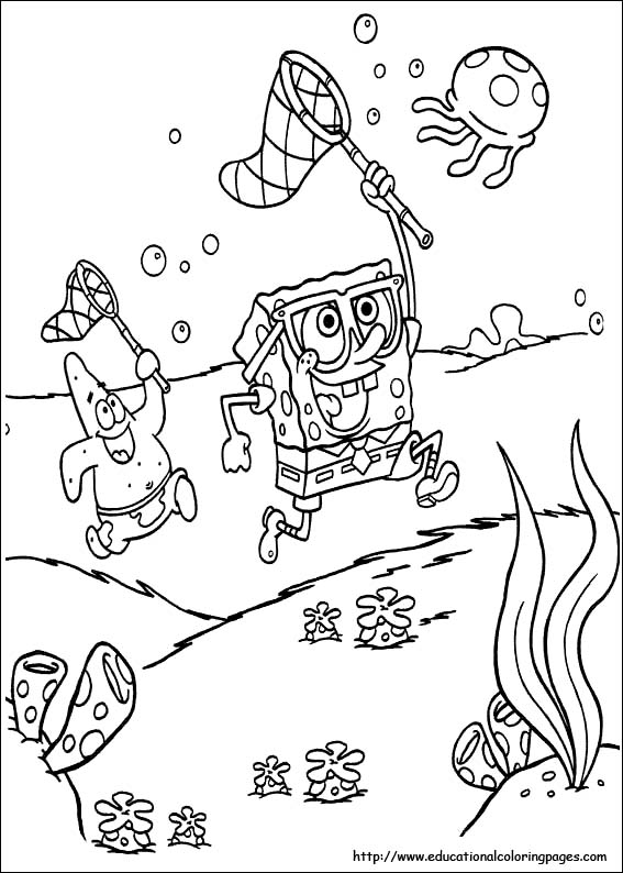 spongebob fun coloring pages - photo#19