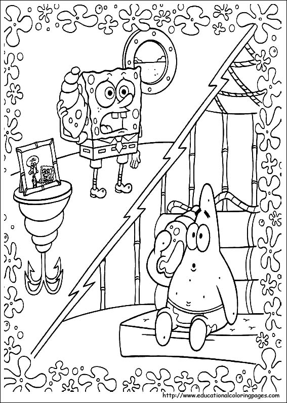 spongebob fun coloring pages - photo#33