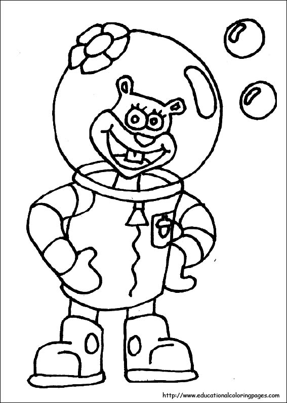 spongebob coloring sheet