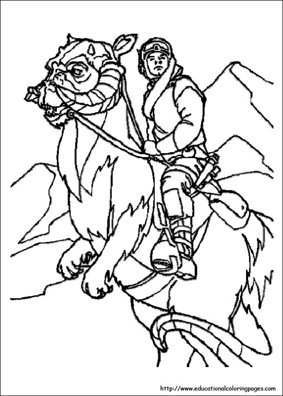 star wars colouring pictures
