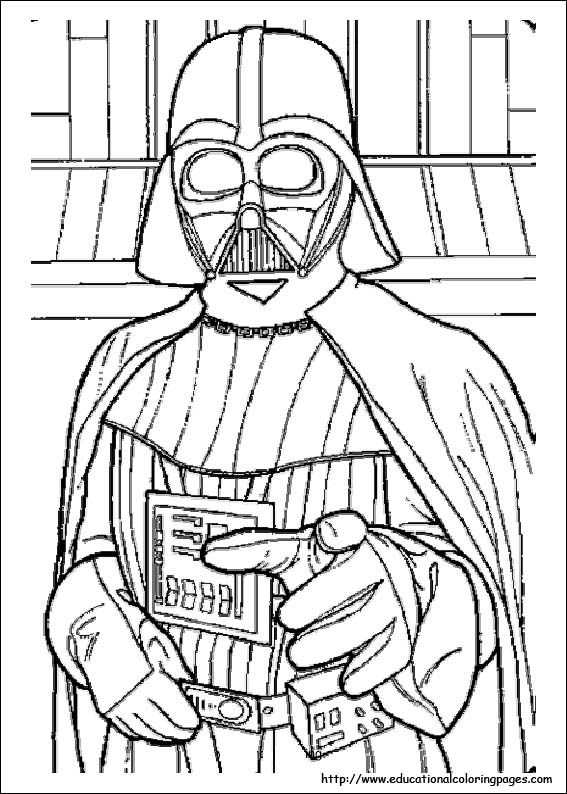 star wars colouring image