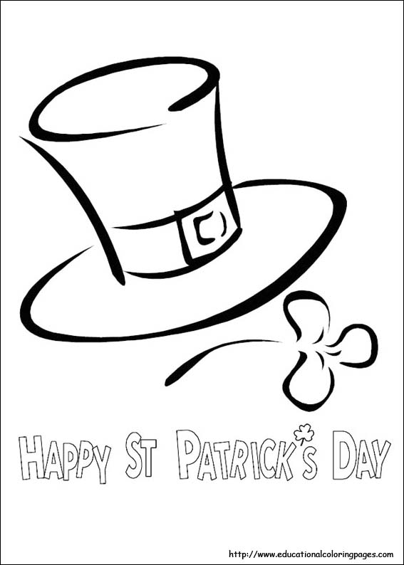 St Patrick S Day Coloring Educational Fun Kids Coloring