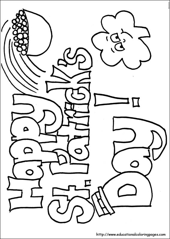 St Patricks Day Coloring Educational Fun Kids Coloring Pages and