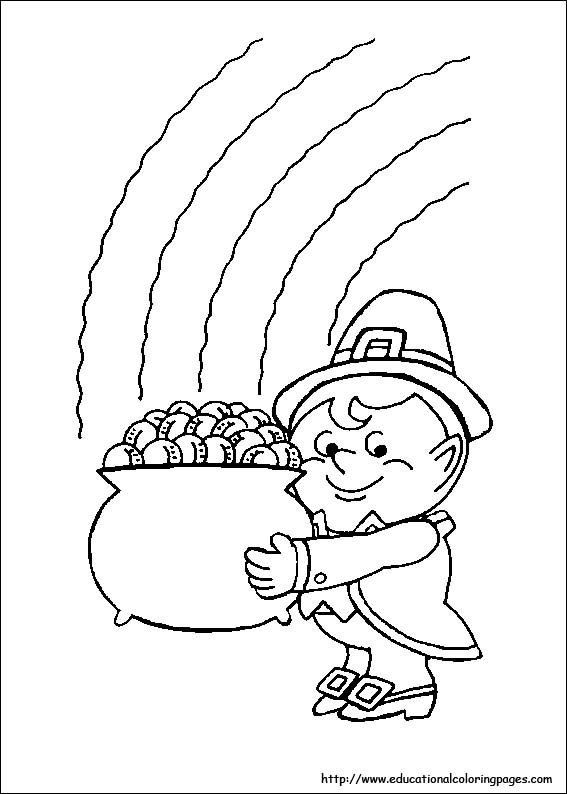 St Patrick 39 s Day Coloring Educational