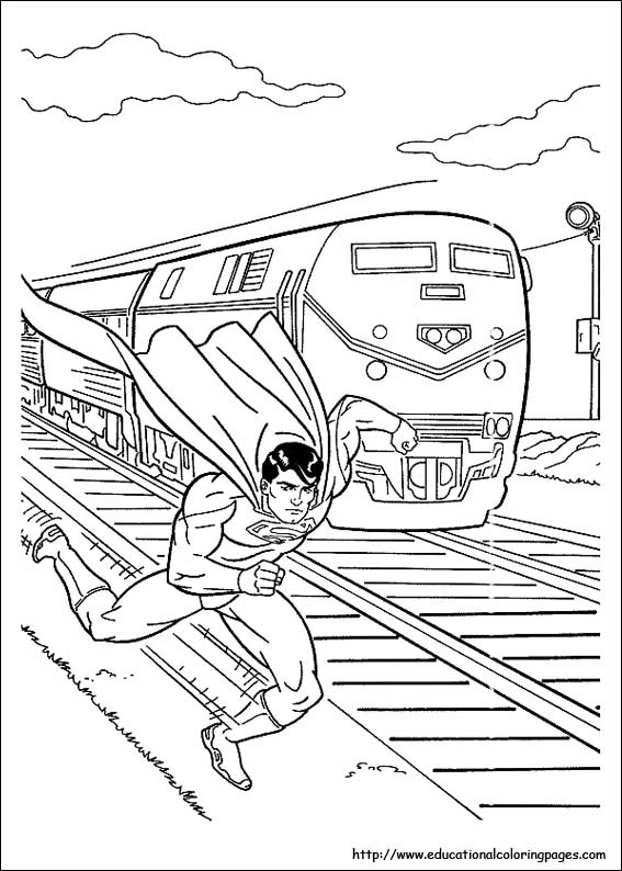 superman colouring picture