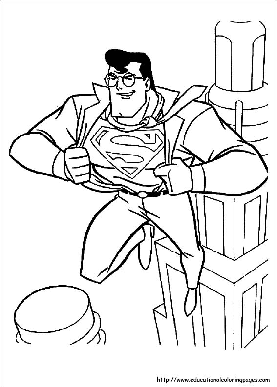 superman coloring pages free for kids - Superman Coloring Pages