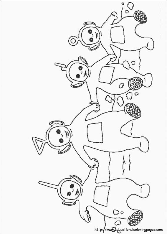 Teletubbies coloring pictures  Educational Fun Kids Coloring