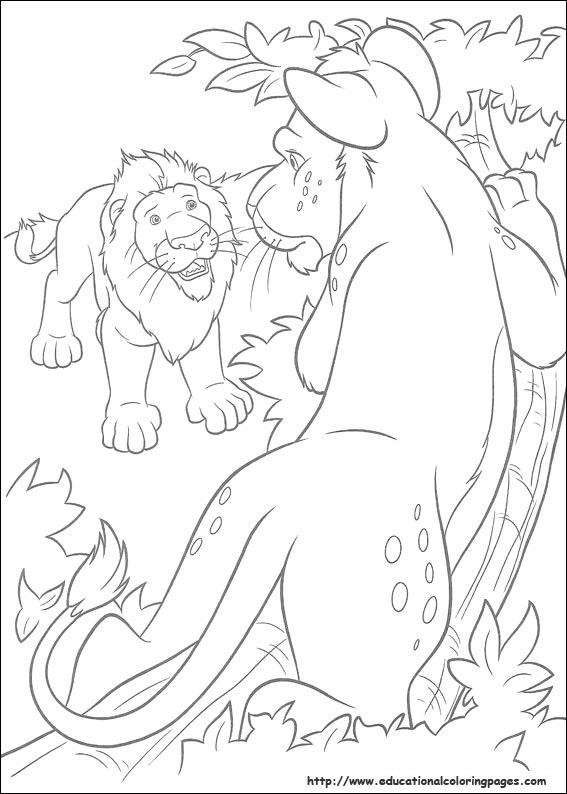 The Wild Coloring Pages Educational