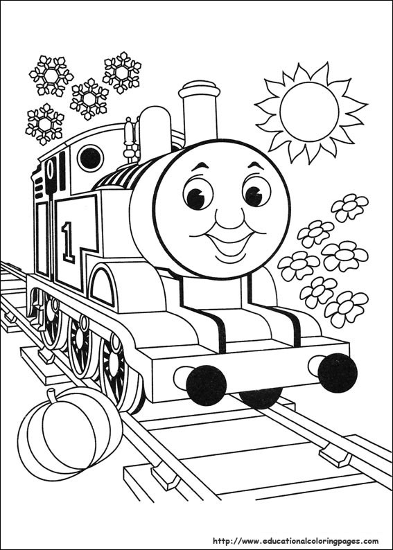 Thomas friends coloring pages educational fun kids for Thomas the train color page