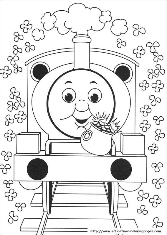 bookmark thomas pass by the wind mill in thomas and friends coloring page - Thomas Friends Coloring Pages