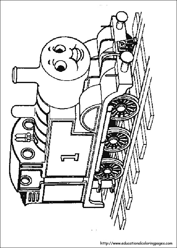 Thomas the train coloring pages free for kids for Thomas the train color page