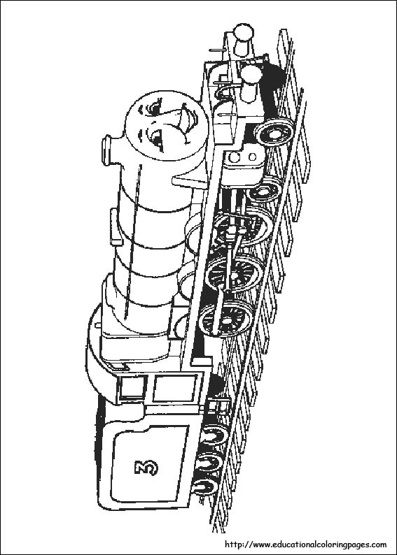 Thomas The Train Coloring Pages Free For Kids