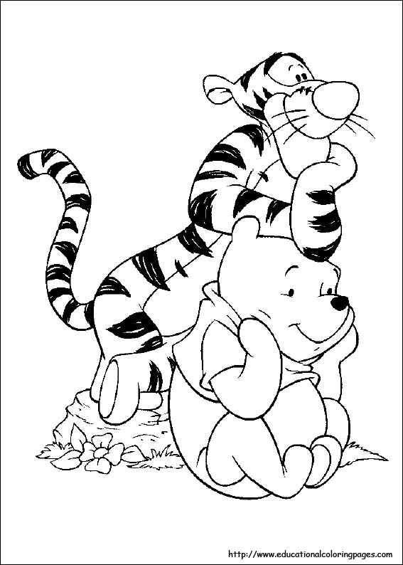 Tigger coloring pages Educational Fun Kids Coloring