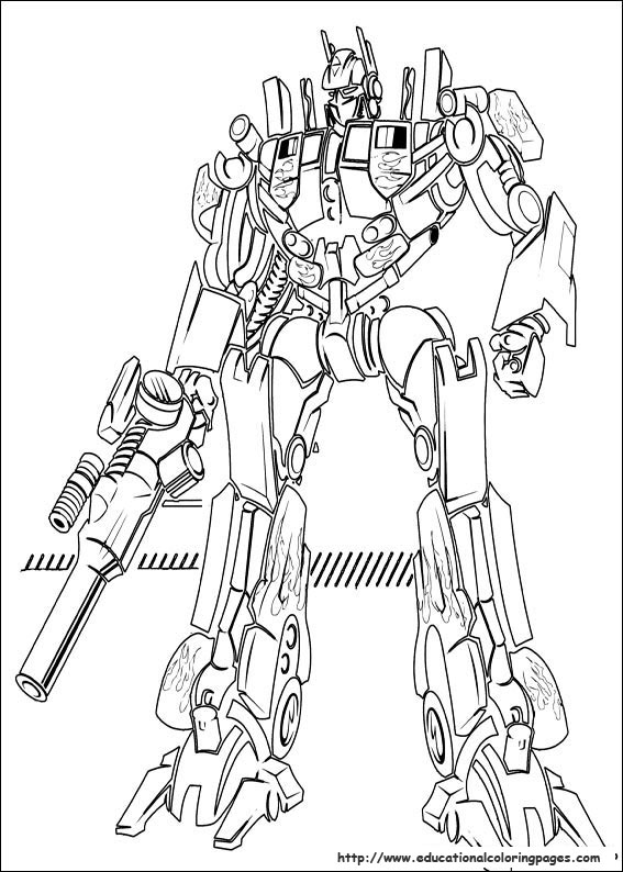 Educational Fun Kids Transformers Coloring Pages and