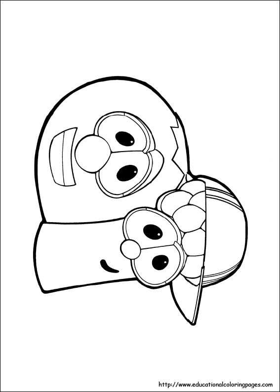 free coloring pages veggie tales - photo#16