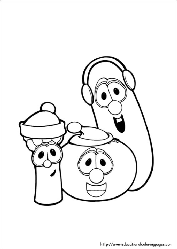 free printable coloring pages veggie tales coloring sheets