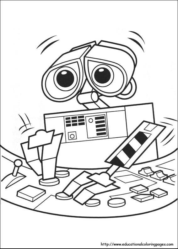 coloring book pages wall e - photo#10