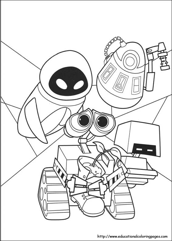 Wall E Coloring Pages Educational Fun Kids Coloring Pages And