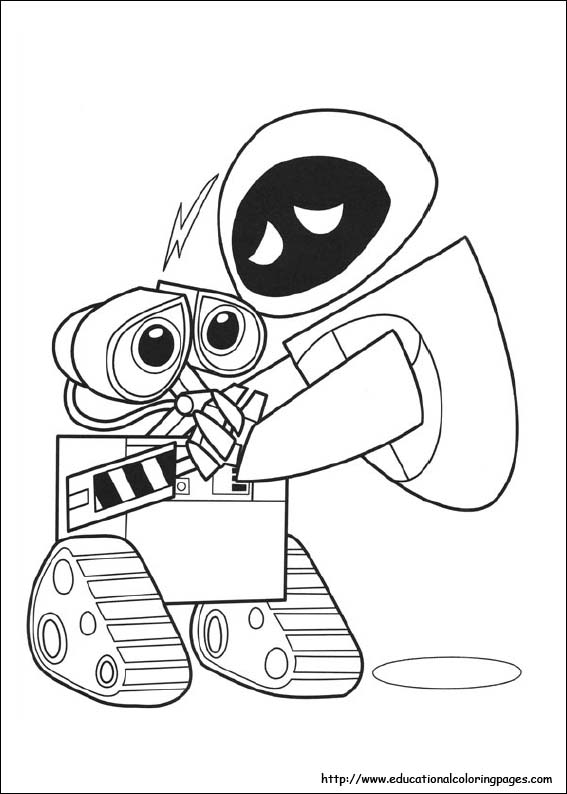 Wall E Coloring Pages Educational Fun Kids Coloring