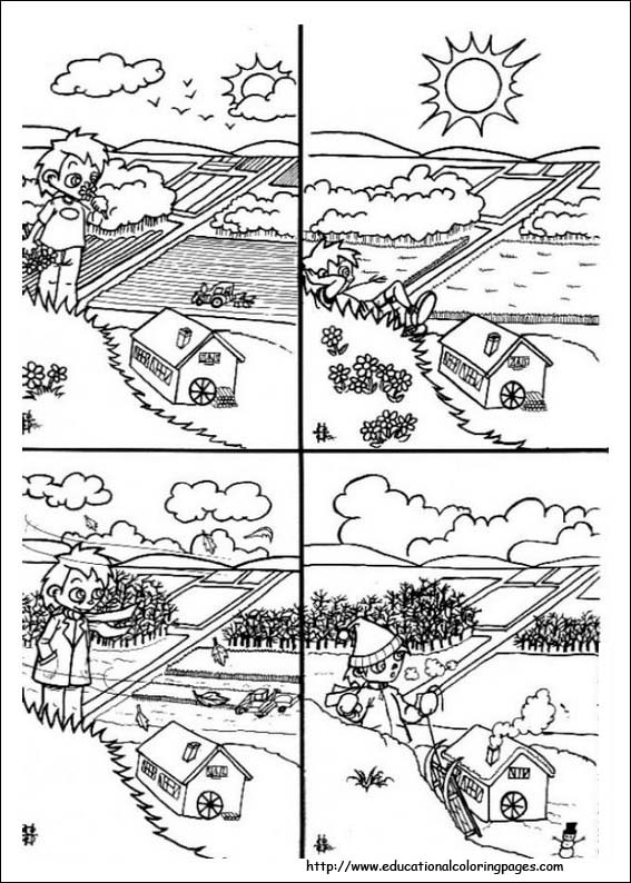 Weather coloring pages free for kids