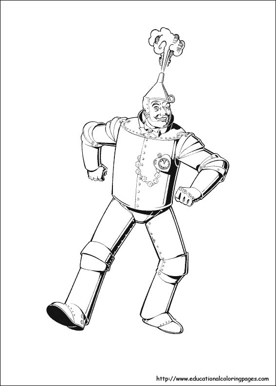 wizard oz coloring pages - photo#26
