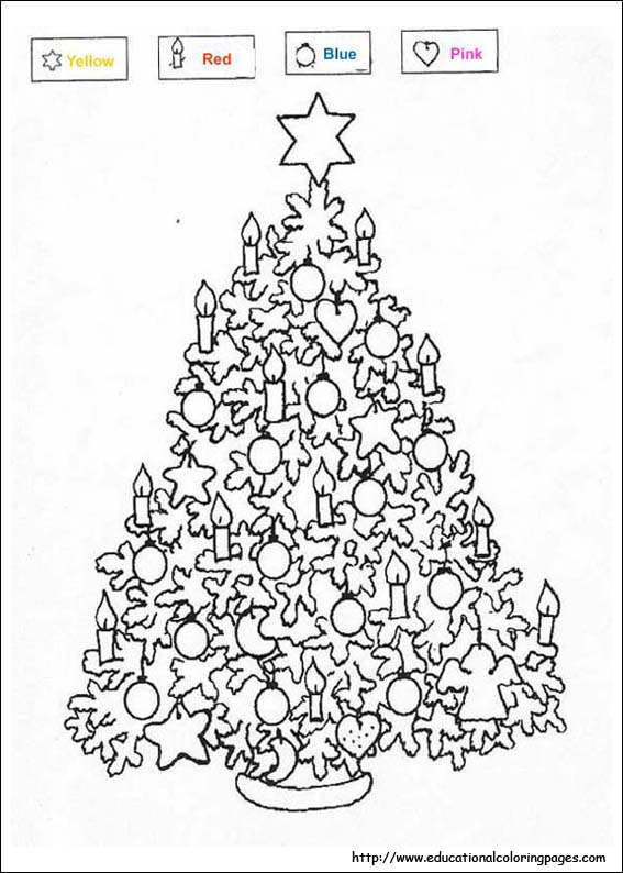 Christmas Coloring Educational Fun Kids Coloring Pages And