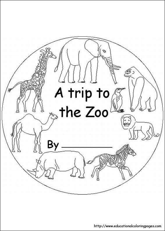 Zoo coloring pages free for kids for Free zoo animal coloring pages