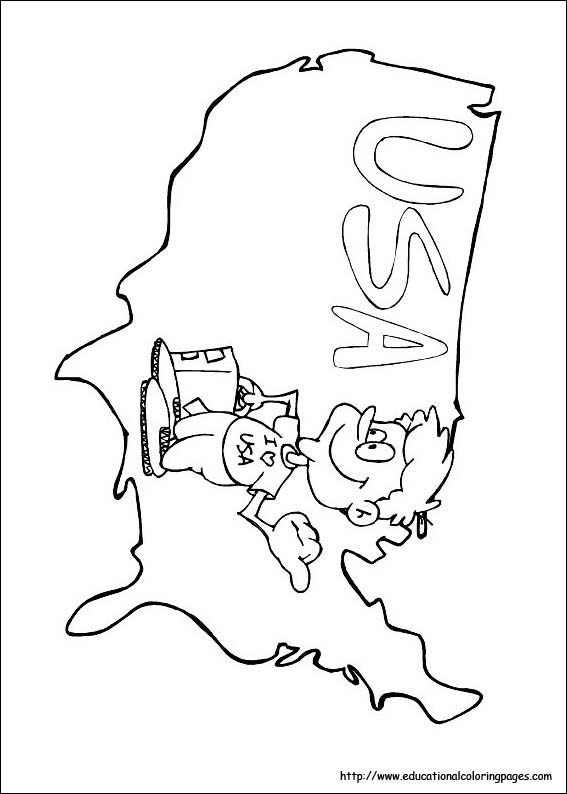 4th of July Coloring Pages Educational