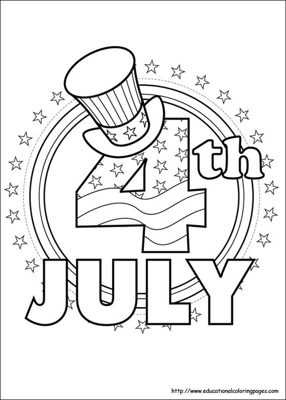 4th of July Coloring Pages Educational Fun Kids Coloring Pages