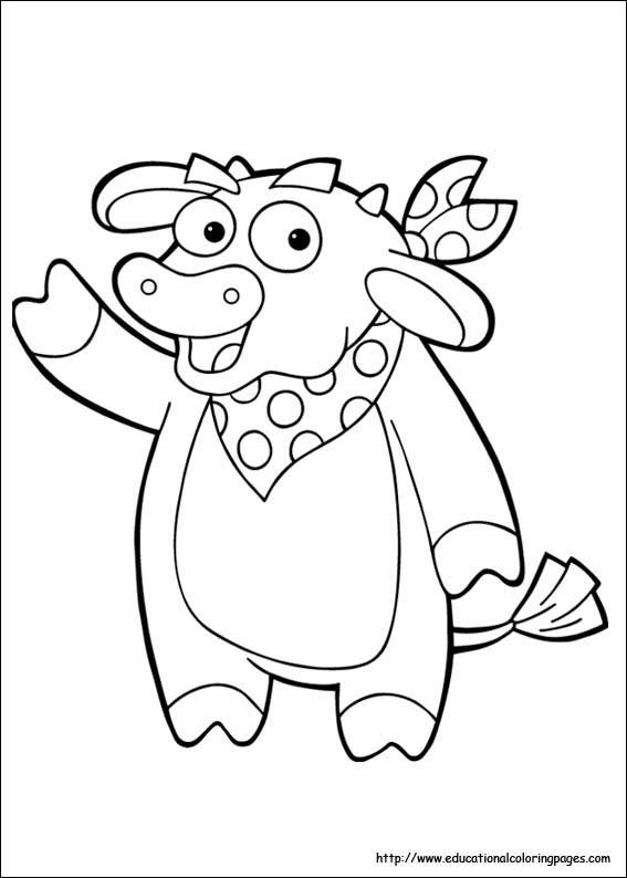 cow coloring picture