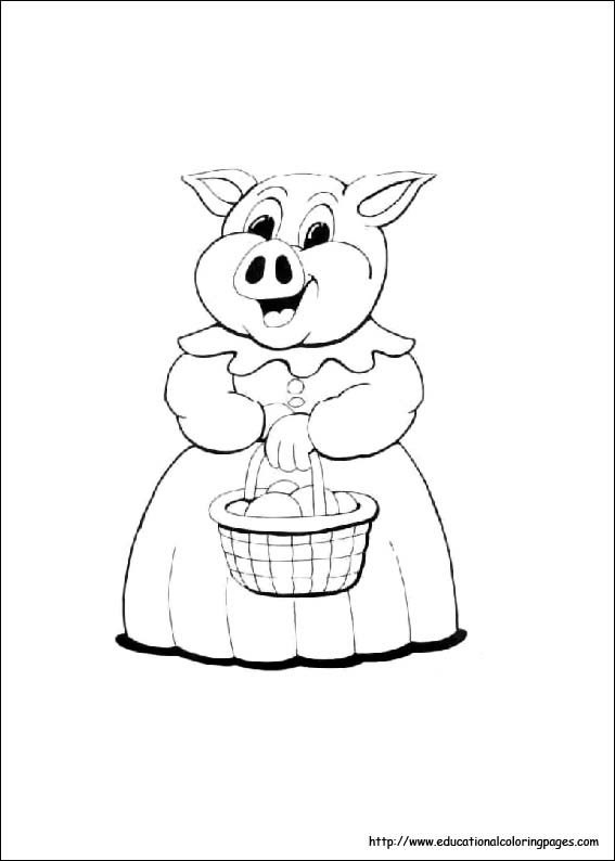 pig coloring image