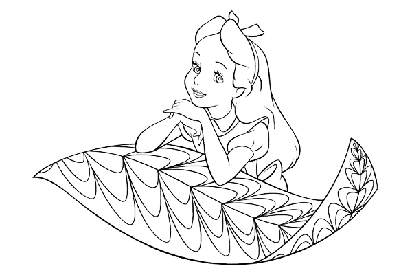 2-alice in wonderland coloring