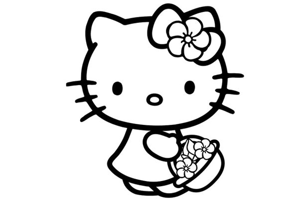 Hello Kitty Coloring Pages free
